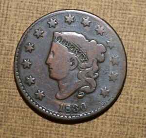 1830 LARGE CENT HUGE CIRCULAR DIE CRACK ERROR