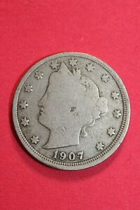 1907 P LIBERTY V NICKEL EXACT COIN PICTURED FLAT RATE SHIPPING OCE 01