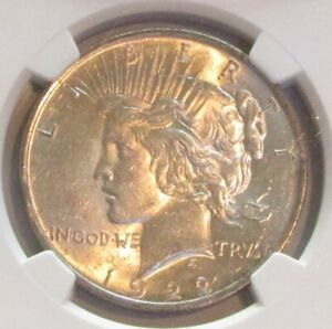 1922 PEACE DOLLAR NGC MS61