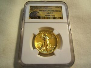 Click now to see the BUY IT NOW Price! 2009 $20 ULTRA HIGH RELIEF UHR SAINT GAUDENS GOLD NGC MS69 PL WITH OGP AND BOOK