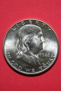 HIGH GRADE 1948 D BEN FRANKLIN HALF DOLLAR EXACT COIN FLAT RATE SHIPPING OCE 120