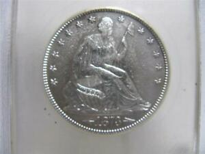 1873 P SEATED LIBERTY HALF DOLLAR WITH ARROWS CHBU   COIN   NFM776