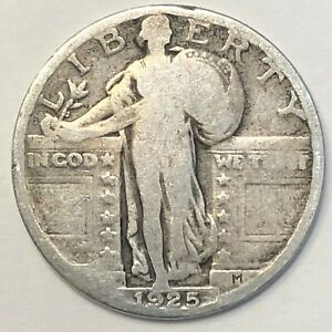 1925 STANDING LIBERTY QUARTER       FREE COMBINED SHIPPING