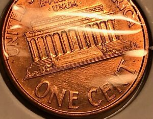 1991 LINCOLN CENT   SERIES OF SMALL MINT LINES BOTH SIDES