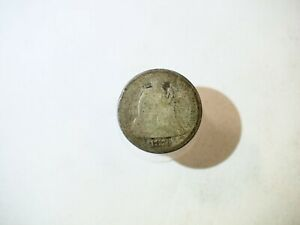 1876 SEATED LIBERTY DIME ABOUT GOOD