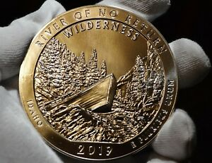 2019 RIVER OF NO RETURN 5 OZ SILVER AMERICA THE BEAUTIFUL IN STOCK & SHIP READY