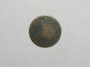 OLD HAITI COIN   1886 1 CENTIME   CIRCULATED CORRODED SCRATCHES