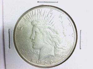 1922 S $1 PEACE SILVER DOLLAR GREAT DETAILS NICE COIN POSSIBLE REV ERROR. 1