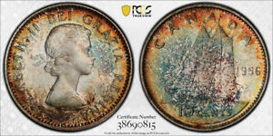 1956 TEN CENTS 10 PCGS MS 66   SUPERB RAINBOW TONES & STRONG LUSTER