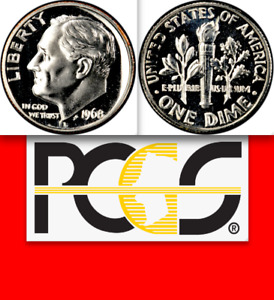 Click now to see the BUY IT NOW Price! 1968 NO S PCGS PR68  12 SURVIVE  $29 000  FOR SIMILAR PROOF ROOSEVELT DIME 10C