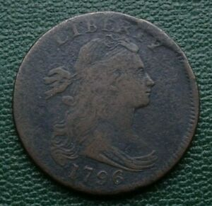 1796 DRAPED BUST LARGE CENT S 97 R 3      SHARP ORIGINAL EXAMPLE WITH OBV. CUD