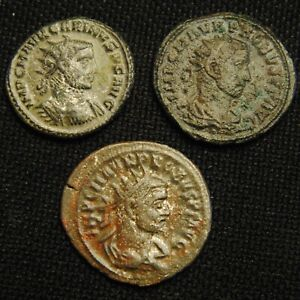 Click now to see the BUY IT NOW Price! THREE ROMAN ANTONINIANI EMPERORS PROBUS & CARINUS TOTAL WEIGHT 11.08 GRAMS