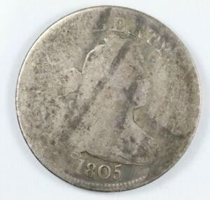 1805 DRAPED BUST EARLY SILVER QUARTER 25C