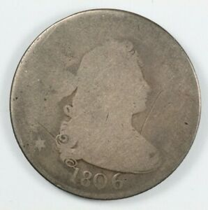 1806 DRAPED BUST EARLY SILVER QUARTER 25C
