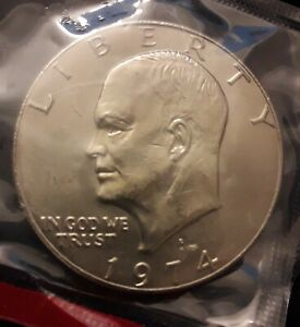 1974 D UNITED STATES DOLLAR   EISENHOWER  IKE  UNC IN MINT PACK KM 203  US6