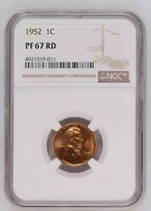 1952 LINCOLN CENT NGC PF67 RED  PR67 RD   L201