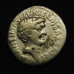 Click now to see the BUY IT NOW Price! AR DENARIUS 2ND TRIUMVIRATE MARC ANTONY & OCTAVIAN 3.62 GR 18 9MM EPHESOS 41 BC