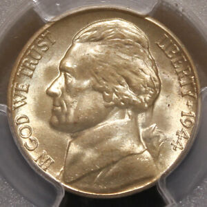 Click now to see the BUY IT NOW Price! 1944 S JEFFERSON NICKEL   PCGS MS65   BU W/ RIM TO RIM DIE CRACK & GREASE ERROR