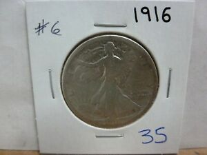 1916 WALKING LIBERTY SILVER HALF DOLLAR 6