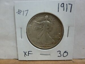 1917 WALKING LIBERTY SILVER HALF DOLLAR 17