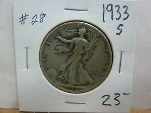 1933 S WALKING LIBERTY SILVER HALF DOLLAR 28
