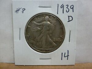 1939 D WALKING LIBERTY SILVER HALF DOLLAR 8