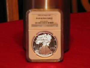 Click now to see the BUY IT NOW Price! 1995 W PROOF SILVER AMERICAN EAGLE PF 69 NGC ULTRA CAMEO