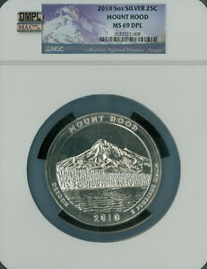 Click now to see the BUY IT NOW Price! 2010 MOUNT HOOD 5 OZ QUARTER NGC MAC MS69 DPL DMPL 2ND ST POP 58 SPOTLESS..