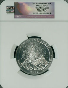 Click now to see the BUY IT NOW Price! 2012 VOLCANOES 5 OZ QUARTER NGC MAC MS69 ER DPL DMPL FINEST POP 88 SPOTLESS ..