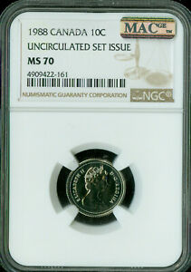 Click now to see the BUY IT NOW Price! 1988 CANADA 10 CENTS NGC MAC MS 70 SPOTLESS SOLO FINEST   ..
