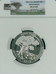 Click now to see the BUY IT NOW Price! 2013 GREAT BASIN 5 OZ QUARTER NGC MAC MS69 DPL DMPL PQ FINEST SPOTLESS POP 90 ..