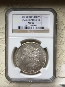 Click now to see the BUY IT NOW Price! 1879 CC $1 VAM 3 CAPPED NGC MS62 CARSON CITY MORGAN DOLLAR WHITE
