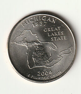 2004 P/D MICHIGAN STATE QUARTERS FROM MINT ROLL