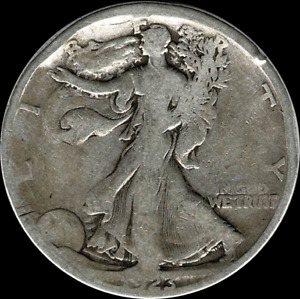 A 1923 S WALKING LIBERTY HALF DOLLAR 90  SILVER US MINT  EXACT COIN SHOWN  192
