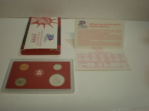 1999 U.S. MINT SILVER PROOF SET PARTIAL   NO QUARTERS   ERROR?   COINS BOX CERT