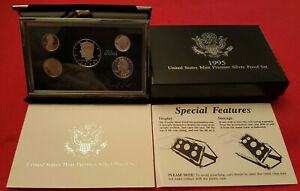 1995 US MINT PREMIER SILVER PROOF SET   BOX AND COA INCLUDED