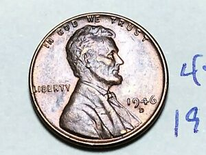 1946 D LINCOLN CENT WHEAT PENNY 4589K