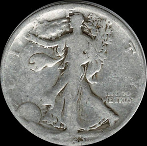A 1923 S WALKING LIBERTY HALF DOLLAR 90  SILVER US MINT  EXACT COIN SHOWN  366