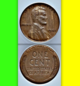 Click now to see the BUY IT NOW Price! 1941 ANACS AU50 THICK BRASS BLANK  $3 055 APR ERROR OR PATTERN LINCOLN CENT 1C