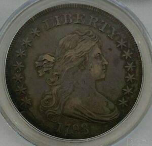 1798 13 ARROWS PCGS XF40 LARGE EAGLE POINTED 9 CLOSE DATE DRAPED BUST DOLLAR $1