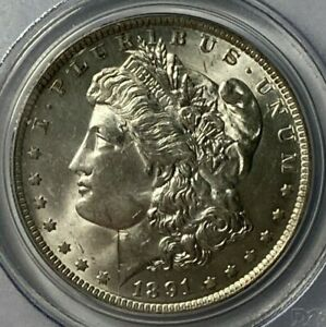 1891 O PCGS MS63 MORGAN SILVER DOLLAR $1