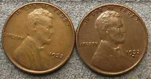 1932 P 1932 D  LINCOLN WHEAT CENTS   BETTER GRADE   FREE SHIP. B733
