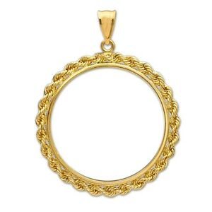14 KT GOLD   1/10 GOLD PANDA   ROPE BEZEL WITH  BALE   18 MM   SALE     $178.88