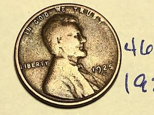 1925 D 1C BN LINCOLN CENT WHEAT PENNY 4682K