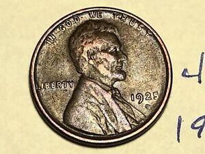1925 D 1C BN LINCOLN CENT WHEAT PENNY 4681K