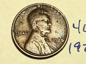 1925 D 1C BN LINCOLN CENT WHEAT PENNY 4679K
