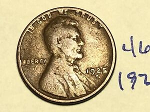 1925 D 1C BN LINCOLN CENT WHEAT PENNY 4678K