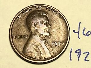 1925 D 1C BN LINCOLN CENT WHEAT PENNY 4677K