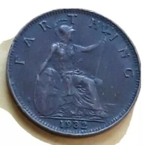 1932 UK GREAT BRITAIN FARTHING COIN