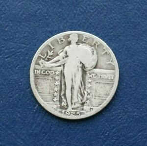 1925 SILVER LIBERTY STANDING QUARTER    VERY GOOD DETAILS